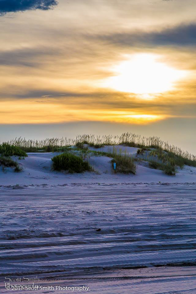 Sunset Dunes No 2 - The sun sets over the sand dunes on the outer banks in North Carolina. by D Scott Smith