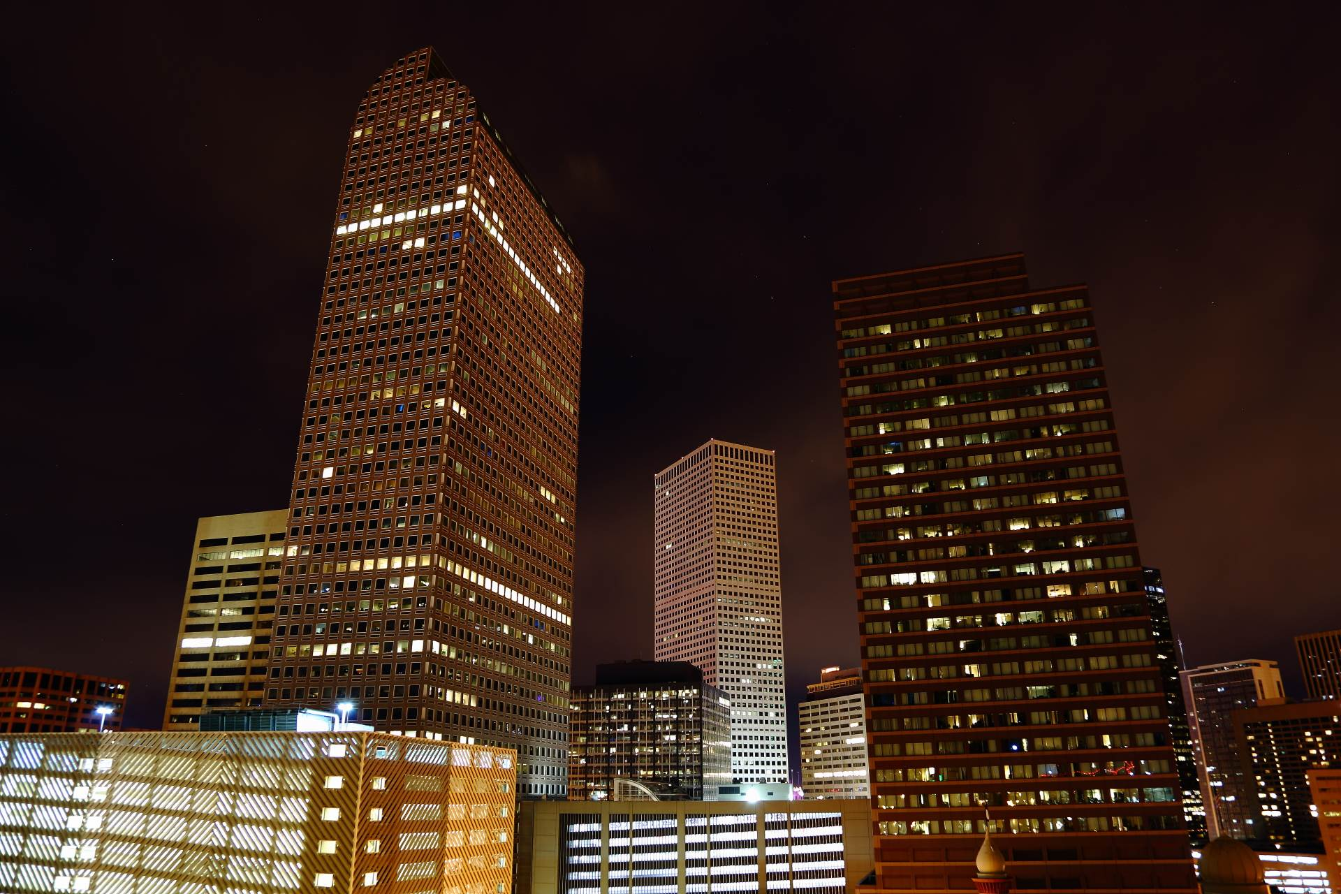 Downtown Denver at Night -  by D Scott Smith