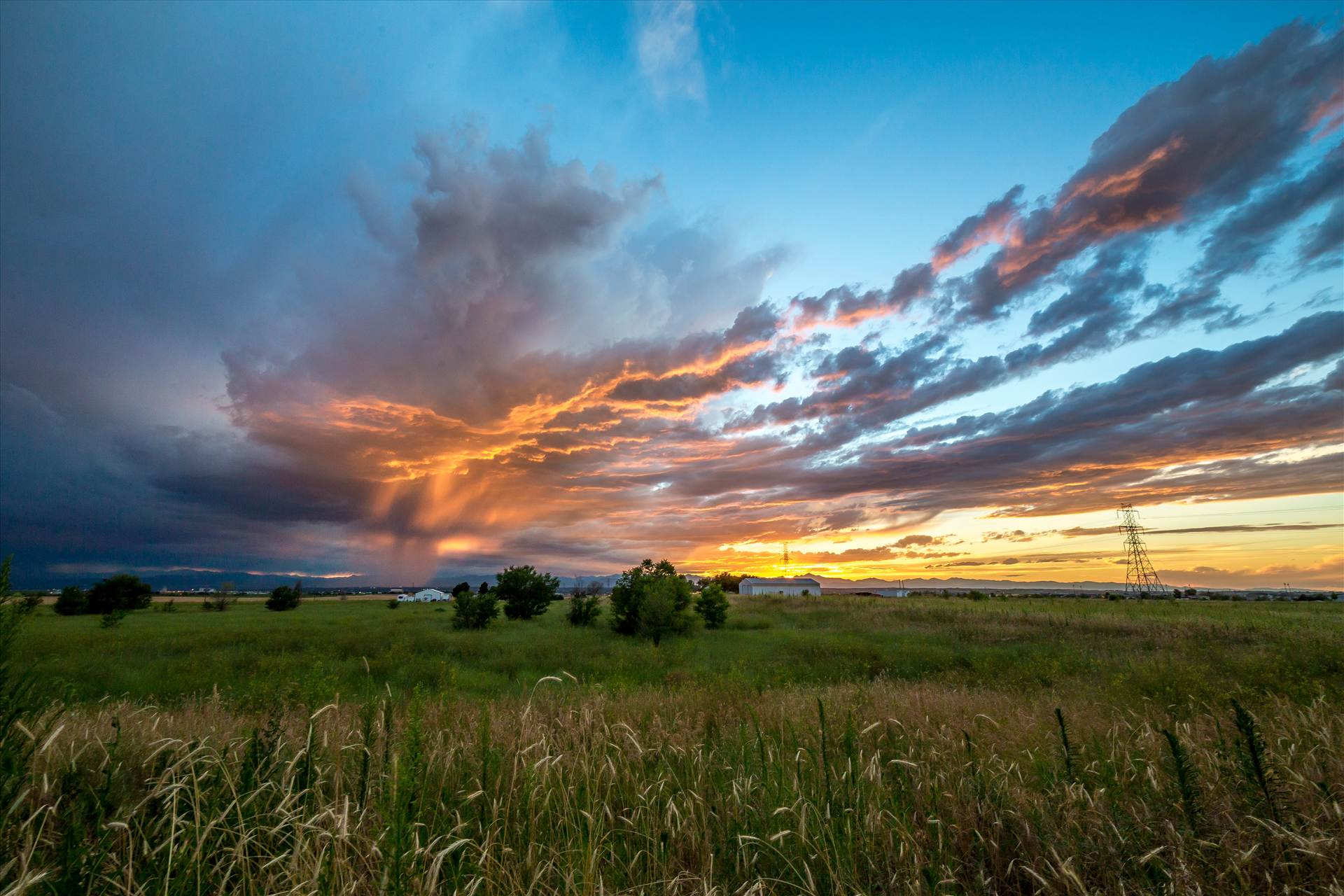 Sunset over Open Space -  by D Scott Smith