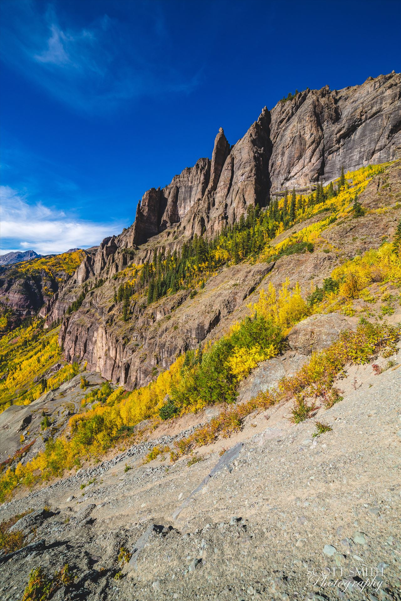 Telluride, ColoradoTelluride from Black Bear Pass in October, 2015.
