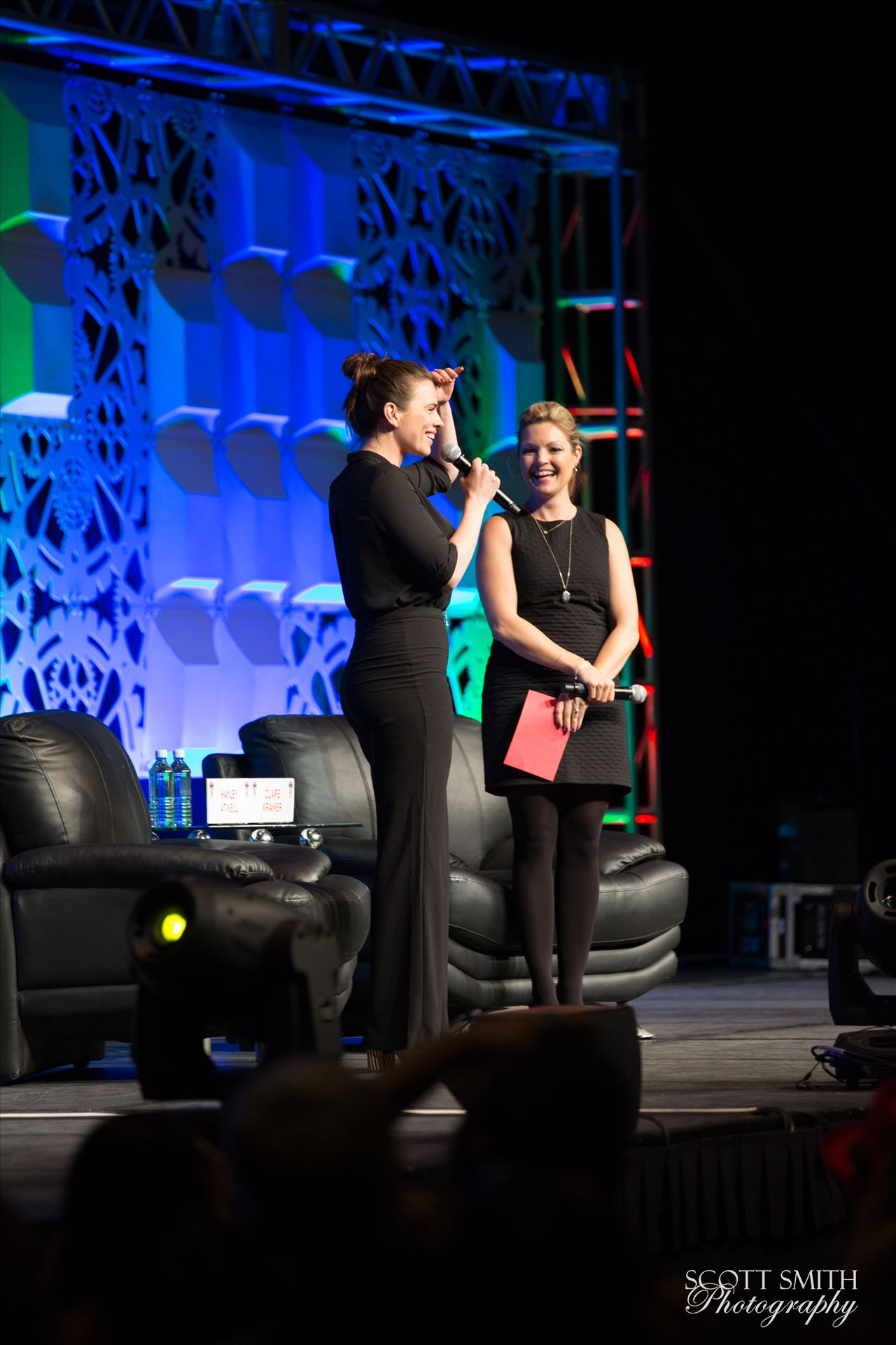 Denver Comic Con 2016 17 - Denver Comic Con 2016 at the Colorado Convention Center.  Clare Kramer and Haley Atwell. by D Scott Smith