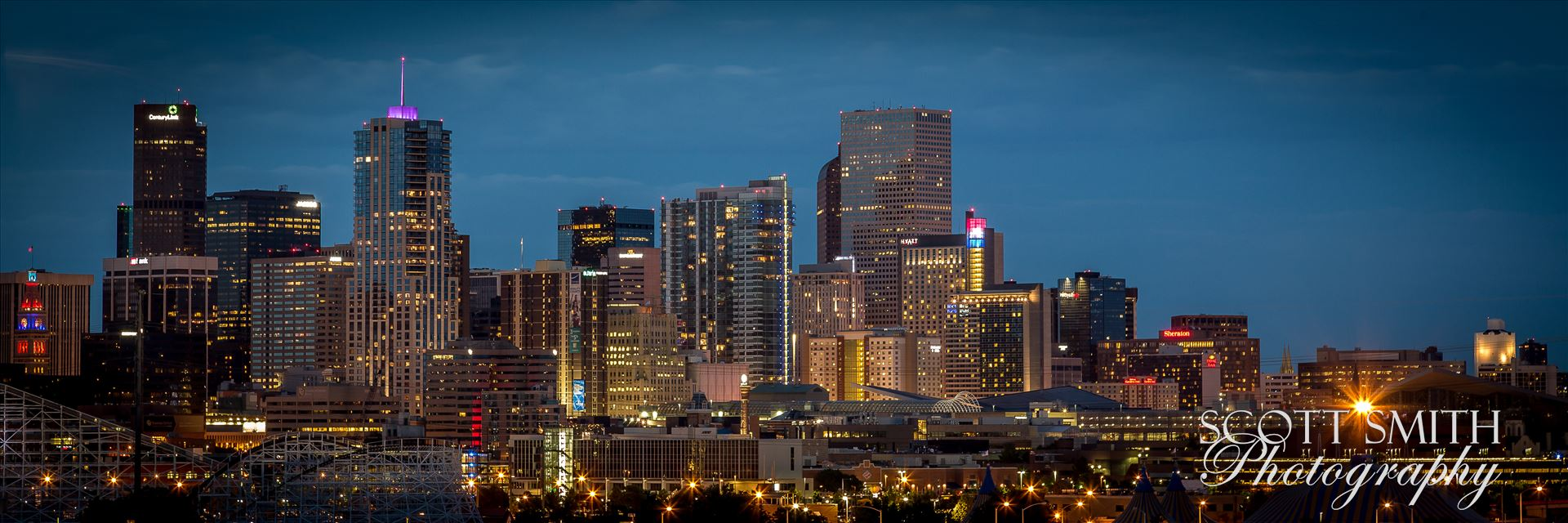 Denver at NightThe Denver skyline as seen from Mile High Stadium.