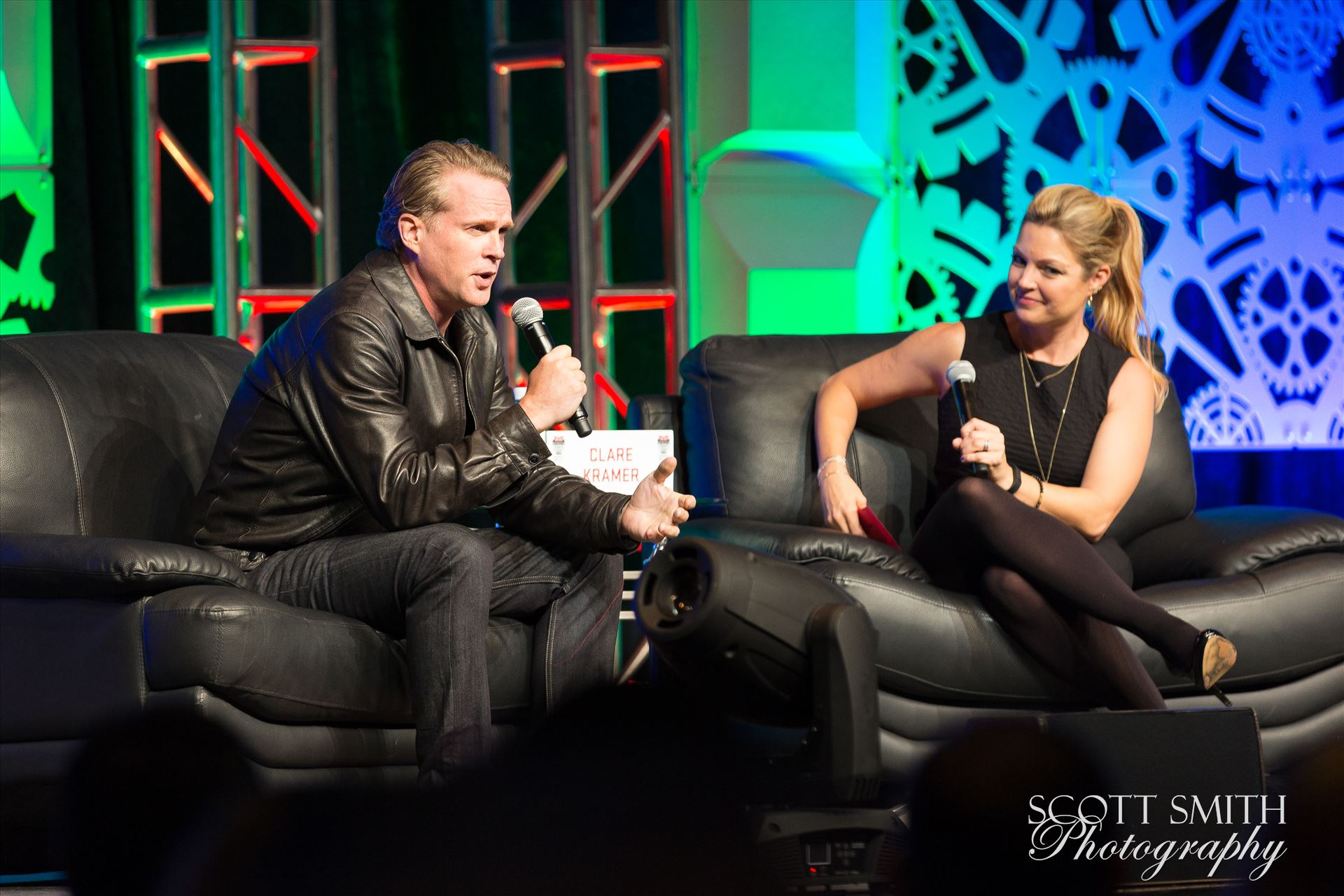 Denver Comic Con 2016 25 - Denver Comic Con 2016 at the Colorado Convention Center. Clare Kramer and Cary Elwes. by D Scott Smith