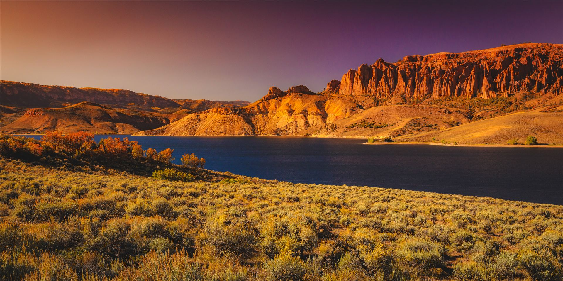 Dillon Pinnacles and Gunnison River (toned) - Another version of the Dillon Pinnacles tower over the beautiful Gunnison River, near Gunnison Colorado. by D Scott Smith