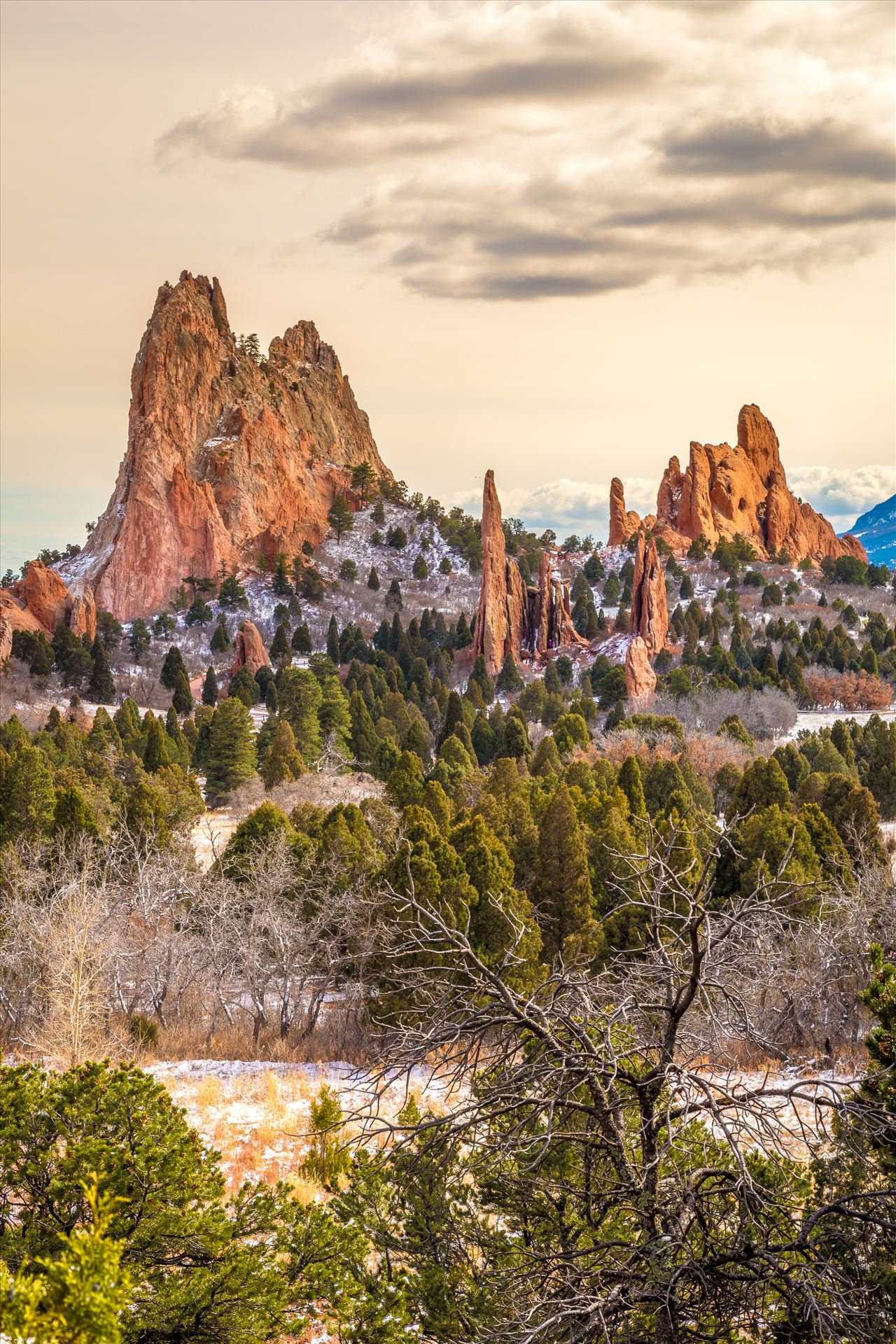 Cathedral spires at the garden of the gods