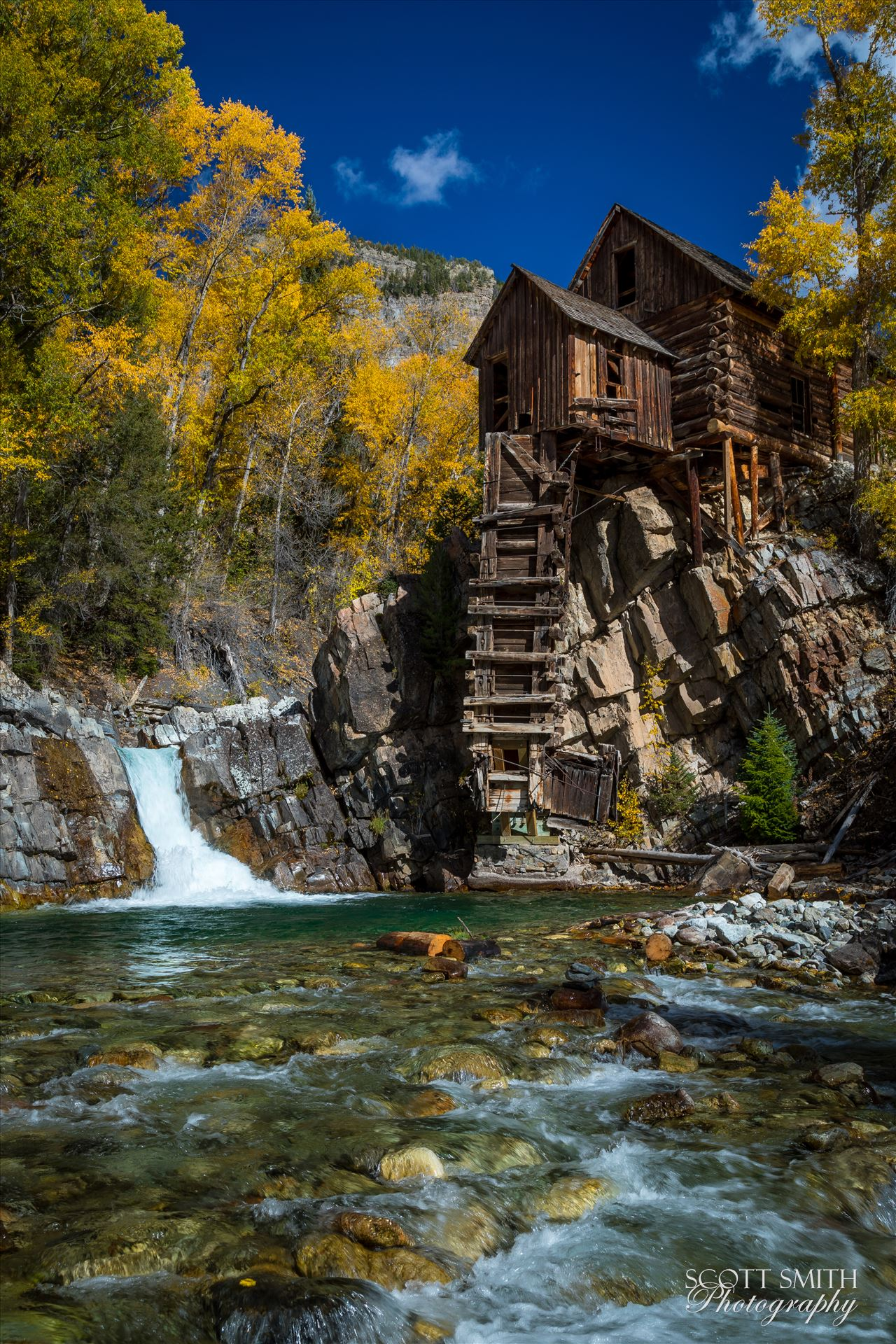 Crystal Mill No 1 - Crystal Mill, outside of Marble, Colorado. This spot is  only accessible with a 4x4 with good clearance, but is worth the effort. by D Scott Smith