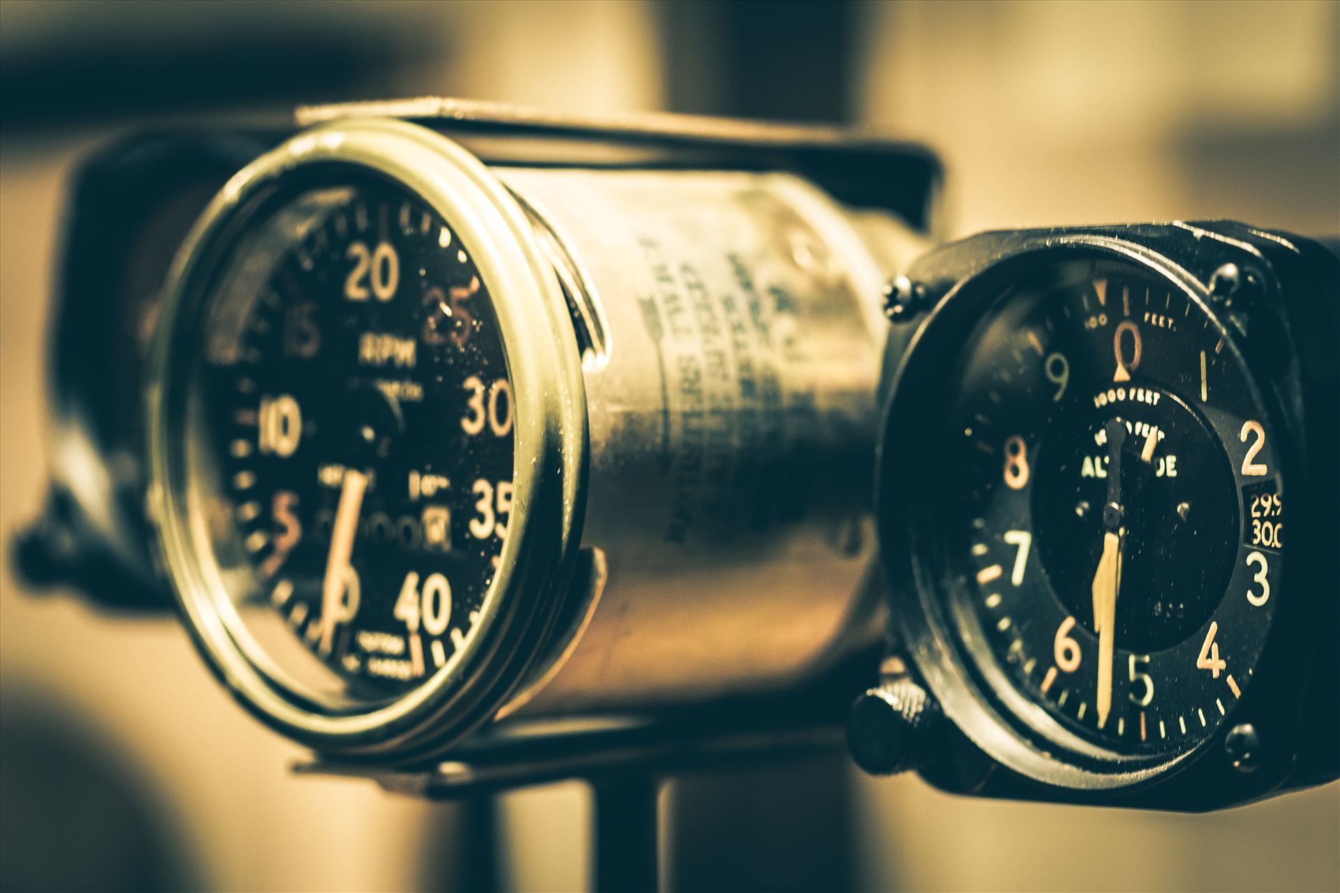 Dial it In - Vintage aviation gauges at the Ghurka store. by D Scott Smith