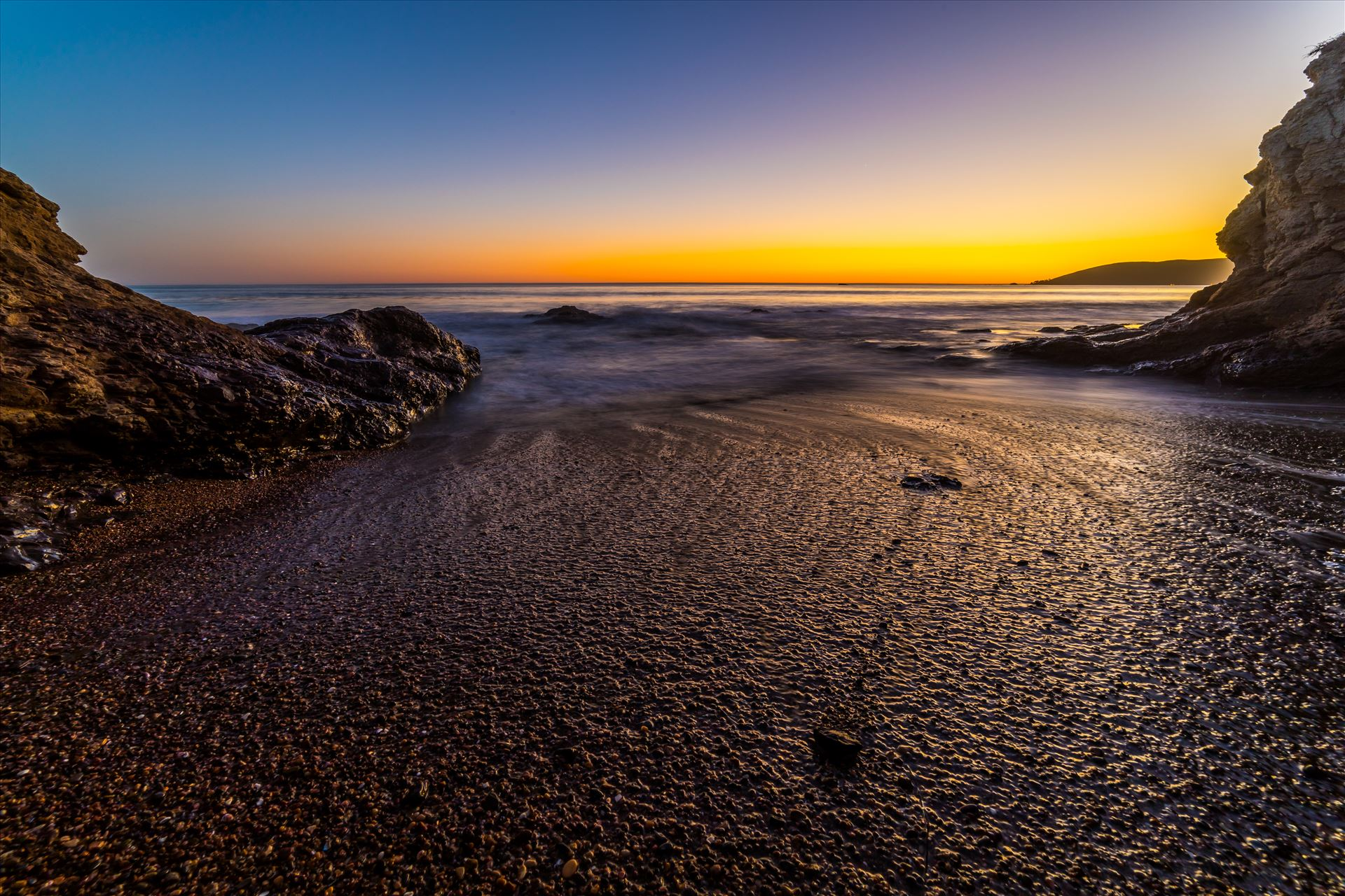 Sunset at Shell Beach 5 -  by D Scott Smith