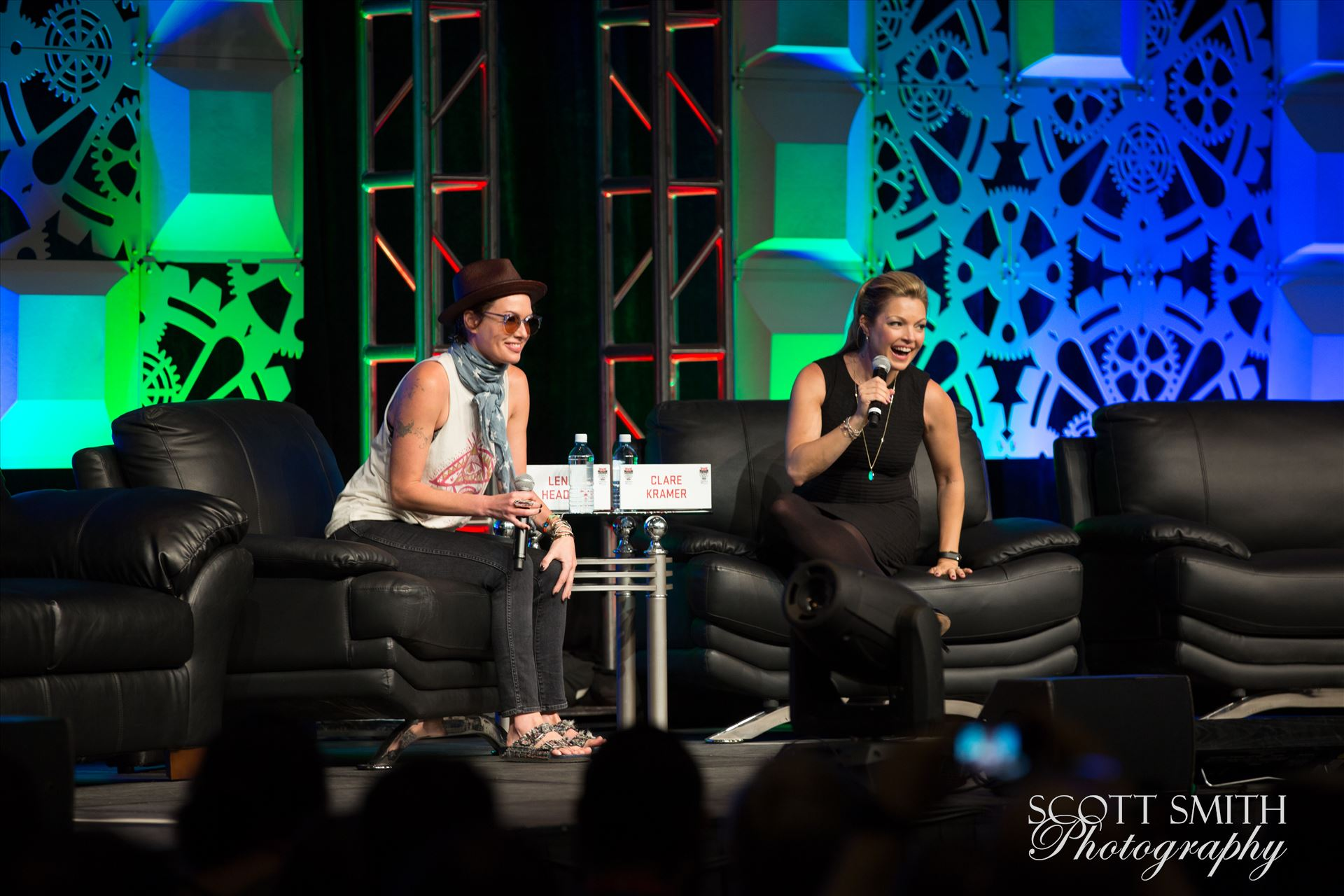 Denver Comic Con 2016 03 - Denver Comic Con 2016 at the Colorado Convention Center. Clare Kramer and Lena Headey. by D Scott Smith