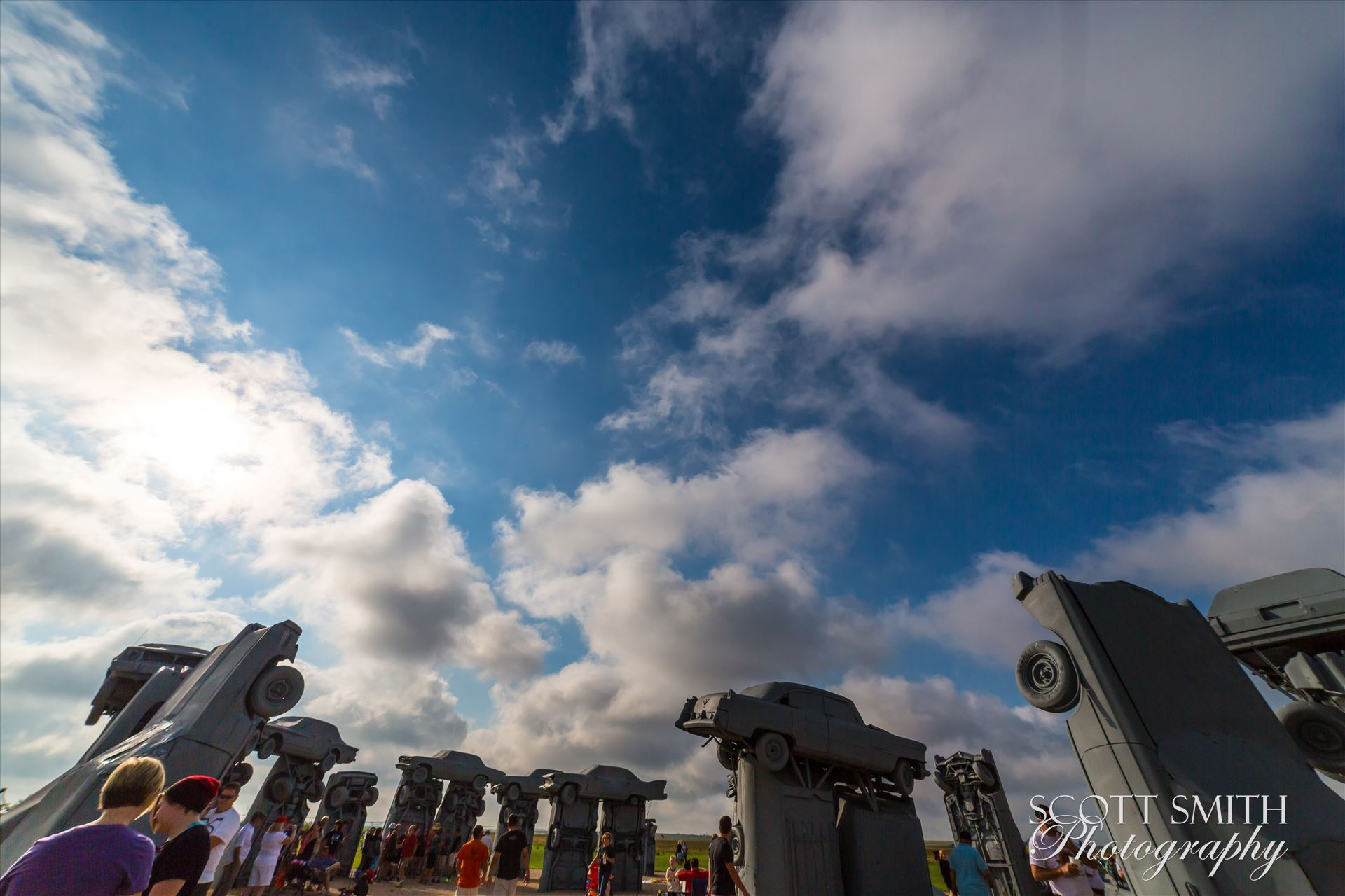 2017 Solar Eclipse 01 - Total solar eclipse, at Carhenge in Alliance. Nebraska August 21, 2017. by D Scott Smith