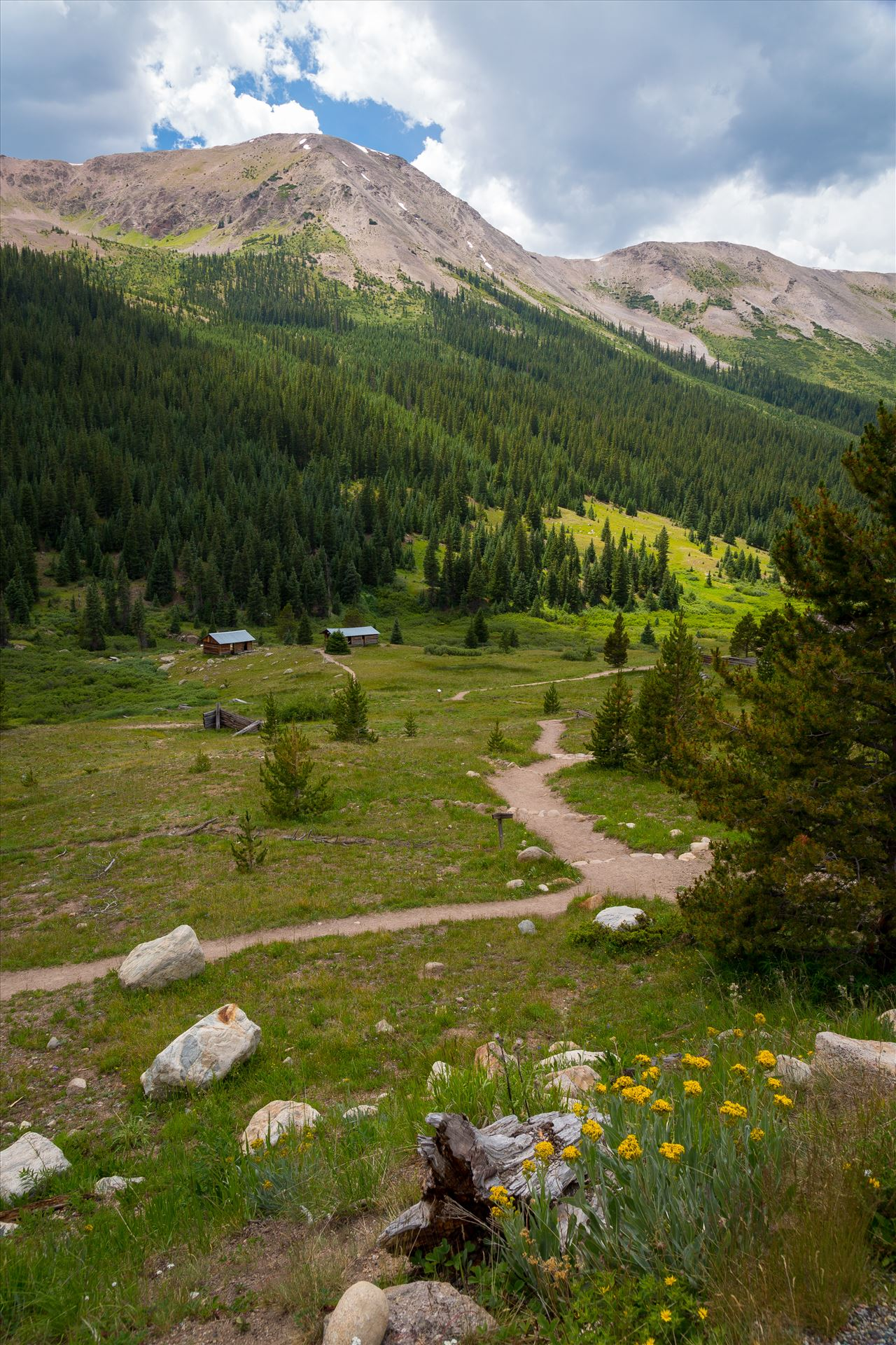 Independence, Colorado - A Real Ghost Town - The ghost town of Independence, on Independence Pass, Colorado. Once a thriving community of 1,500, only a few structures remain, but is maintained by the National Historical Society. by D Scott Smith