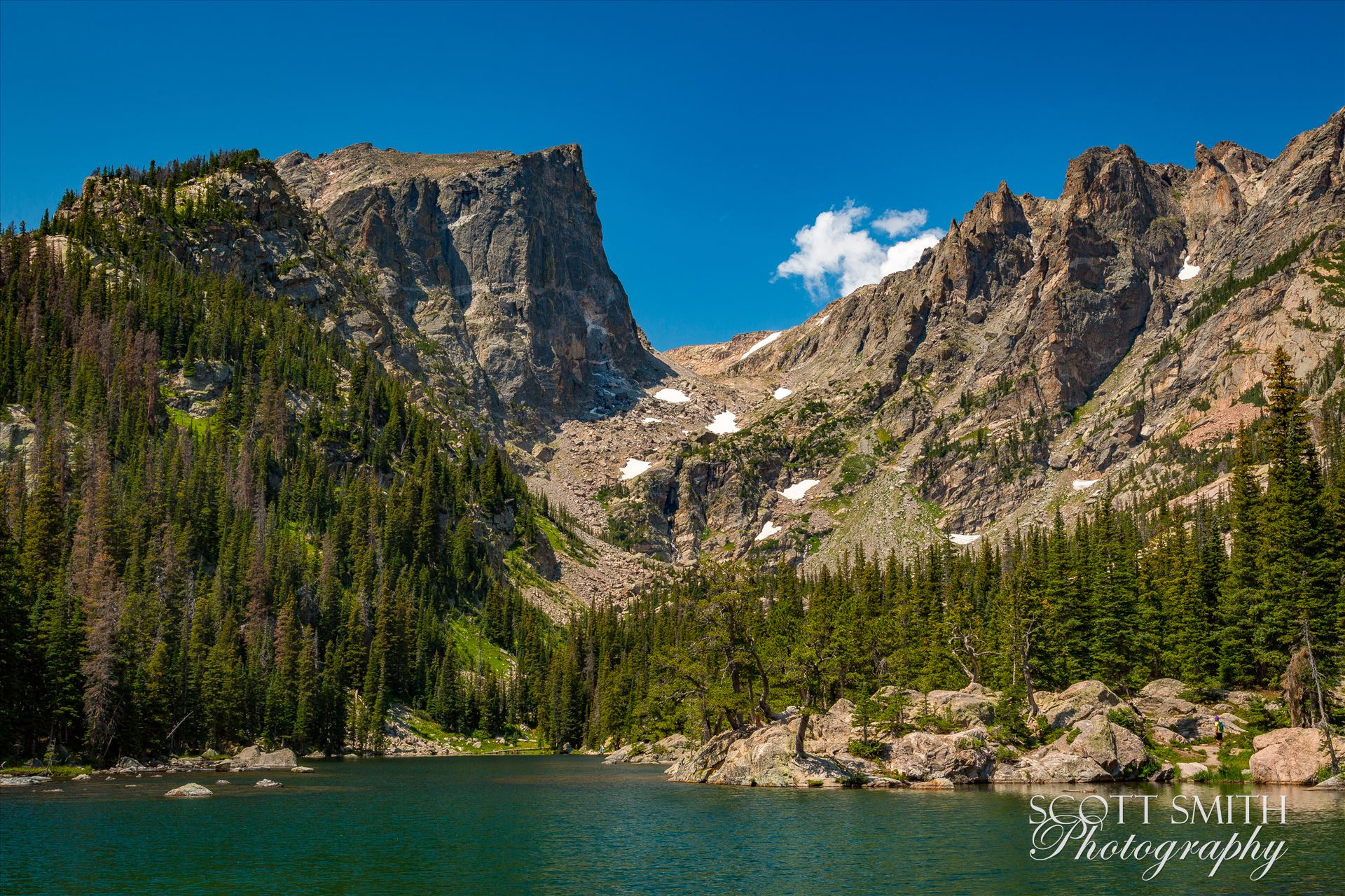 Hallett Peak from Dream Lake -  by D Scott Smith