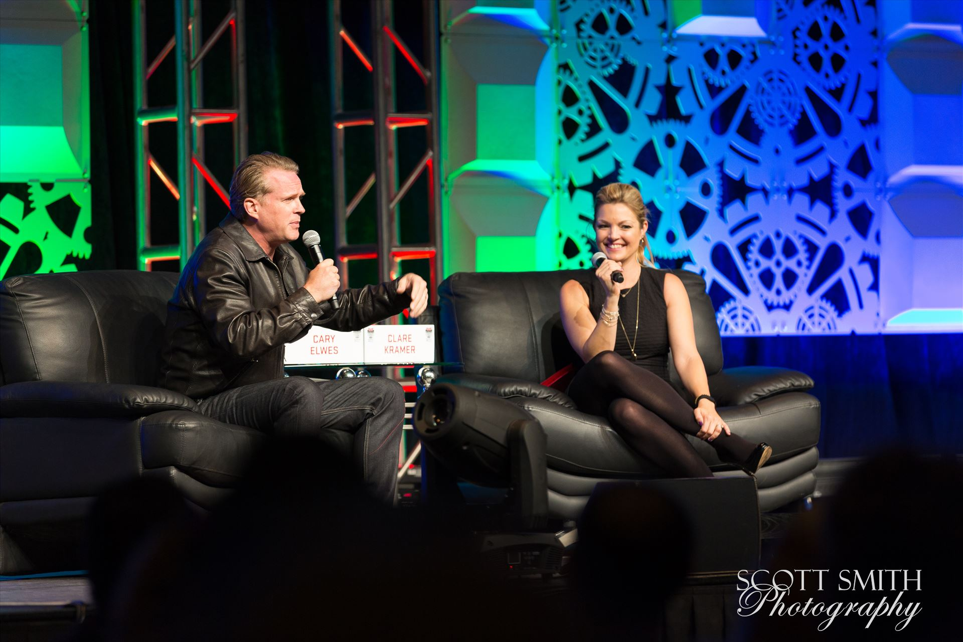 Denver Comic Con 2016 26 - Denver Comic Con 2016 at the Colorado Convention Center. Clare Kramer and Cary Elwes. by D Scott Smith