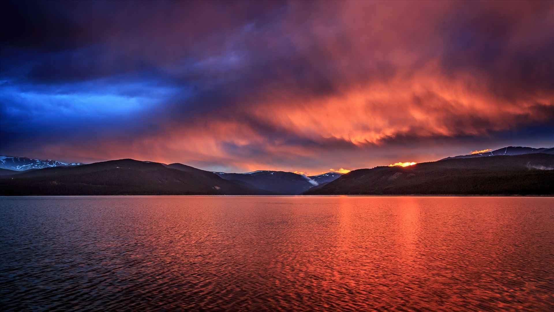 Sunset on Turquoise II - Sunset on the calm protected waters of Turqouise Lake, Leadville Colorado. by D Scott Smith