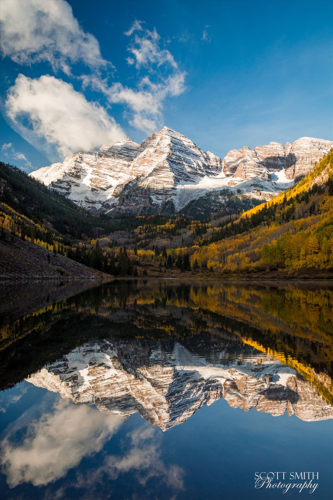 Maroon Bells 2 - The Maroon Bells, Saturday 9/29/17. by D Scott Smith