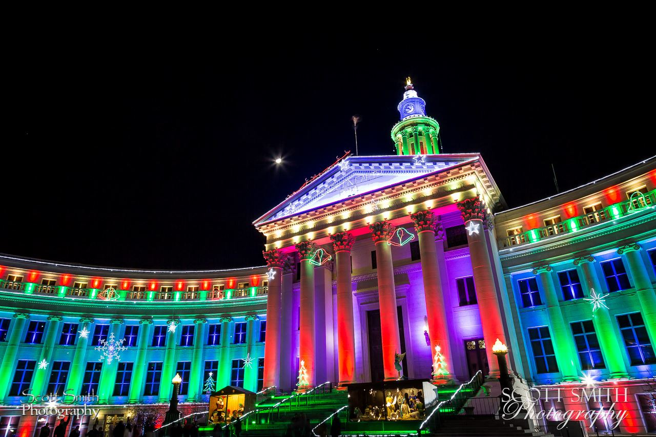 Denver County Courthouse at Christmas 1 - The Denver County Courthouse at Christmas, Denver CO. by D Scott Smith
