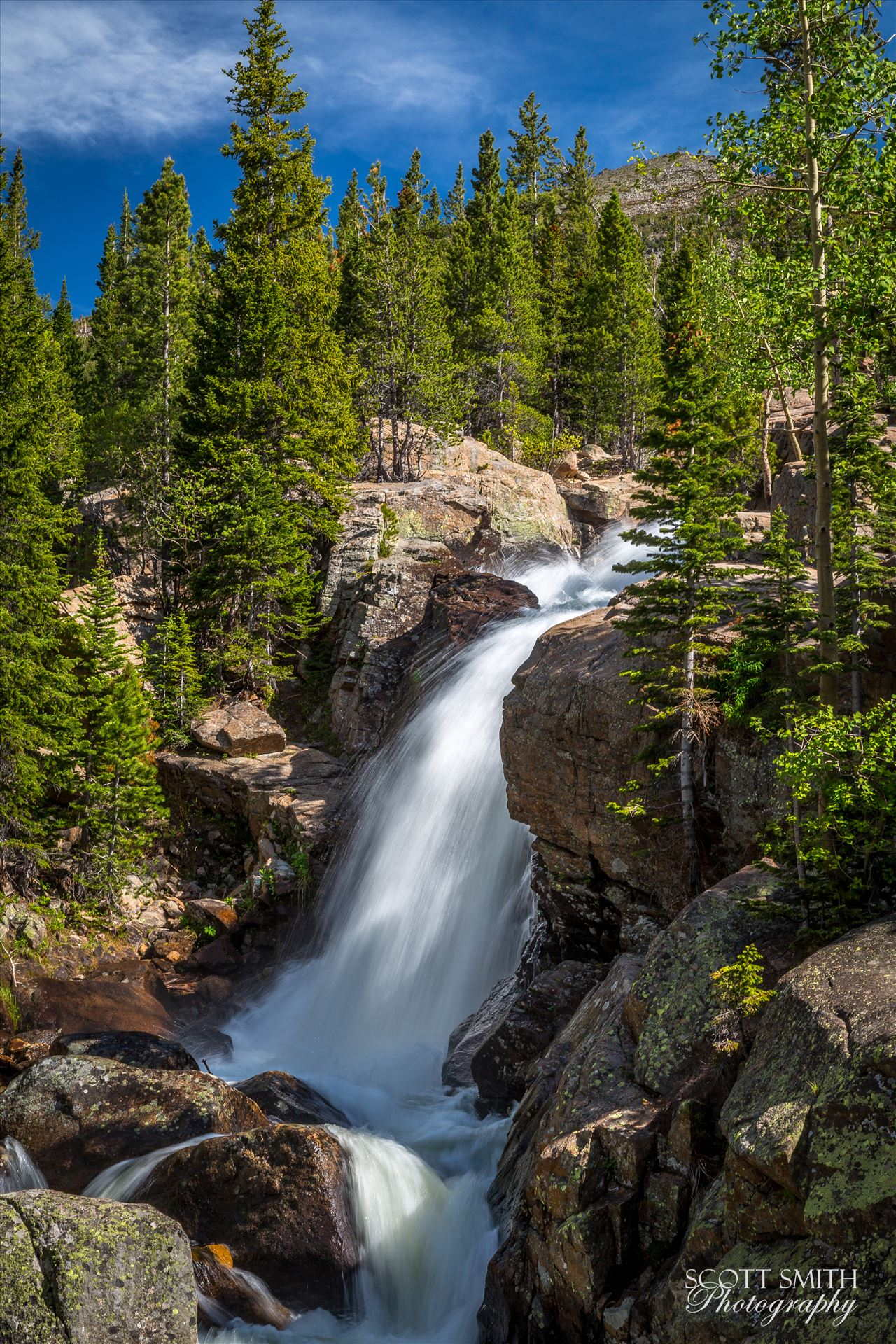 Alberta Falls No 2 - From the Rocky Mountain National Park, near Estes Park, Colorado. by D Scott Smith
