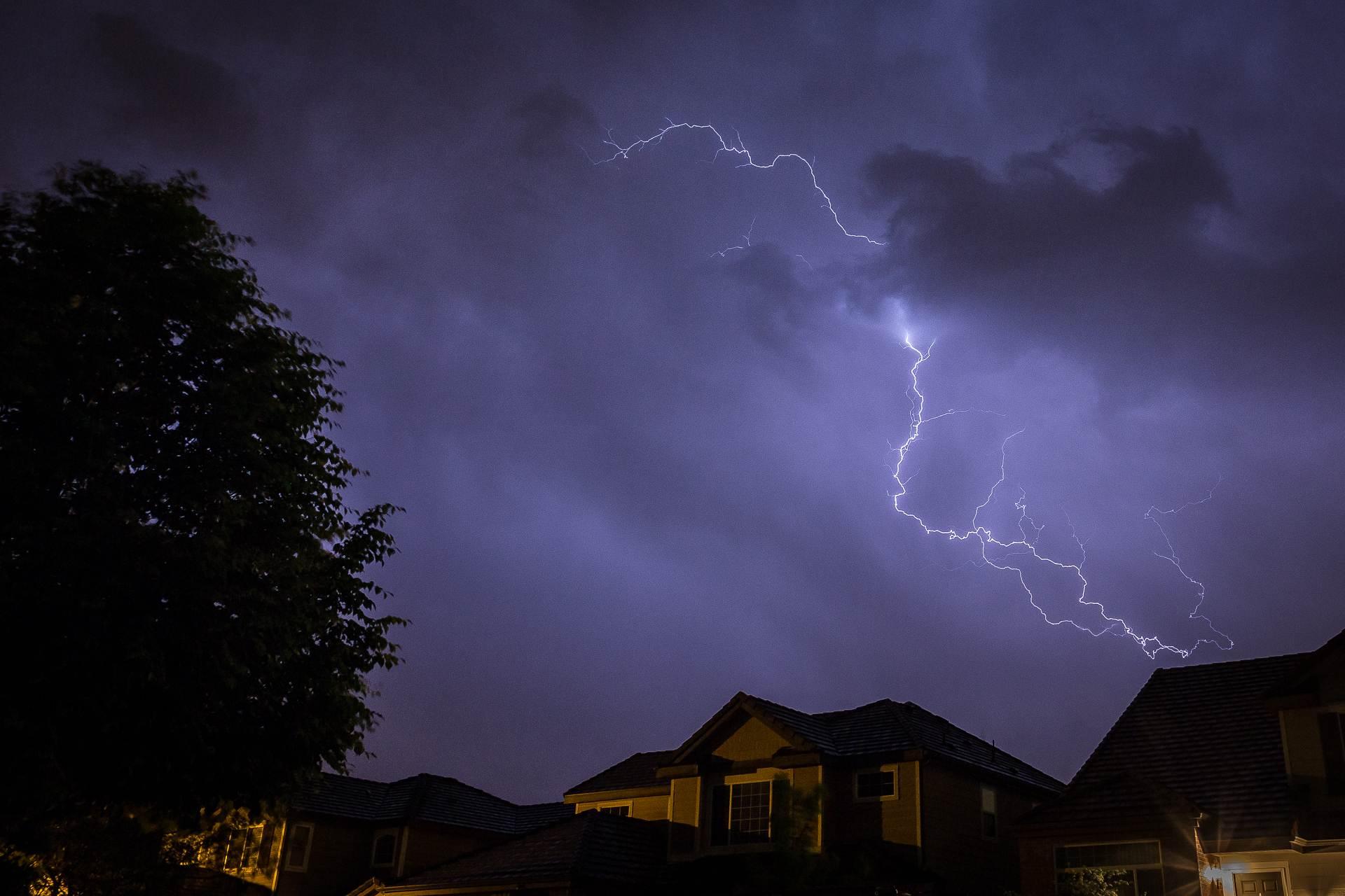 Neighborhood Lightning 2 -  by D Scott Smith