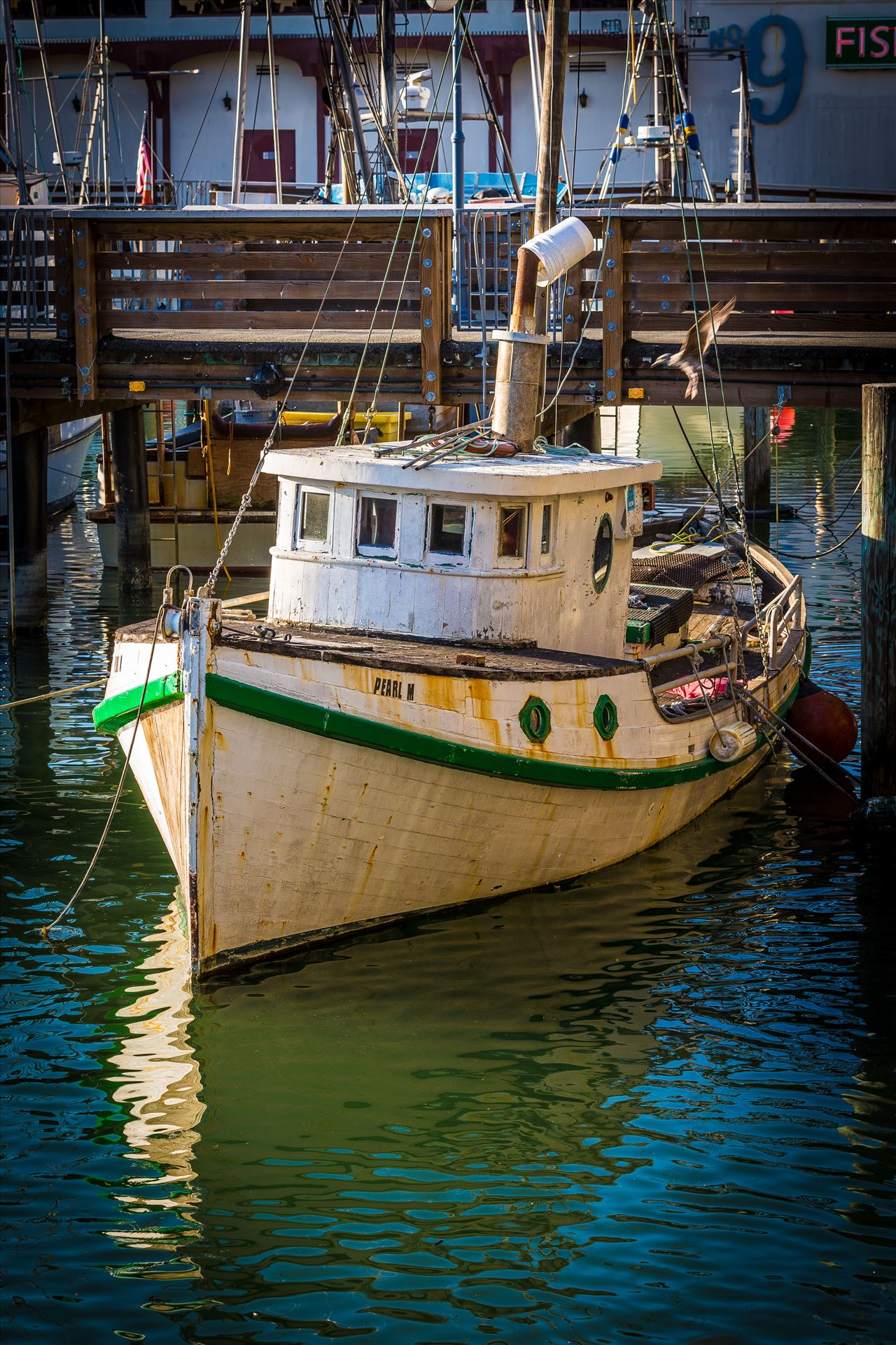 Boat at San Francisco's Pier 39 -  by D Scott Smith