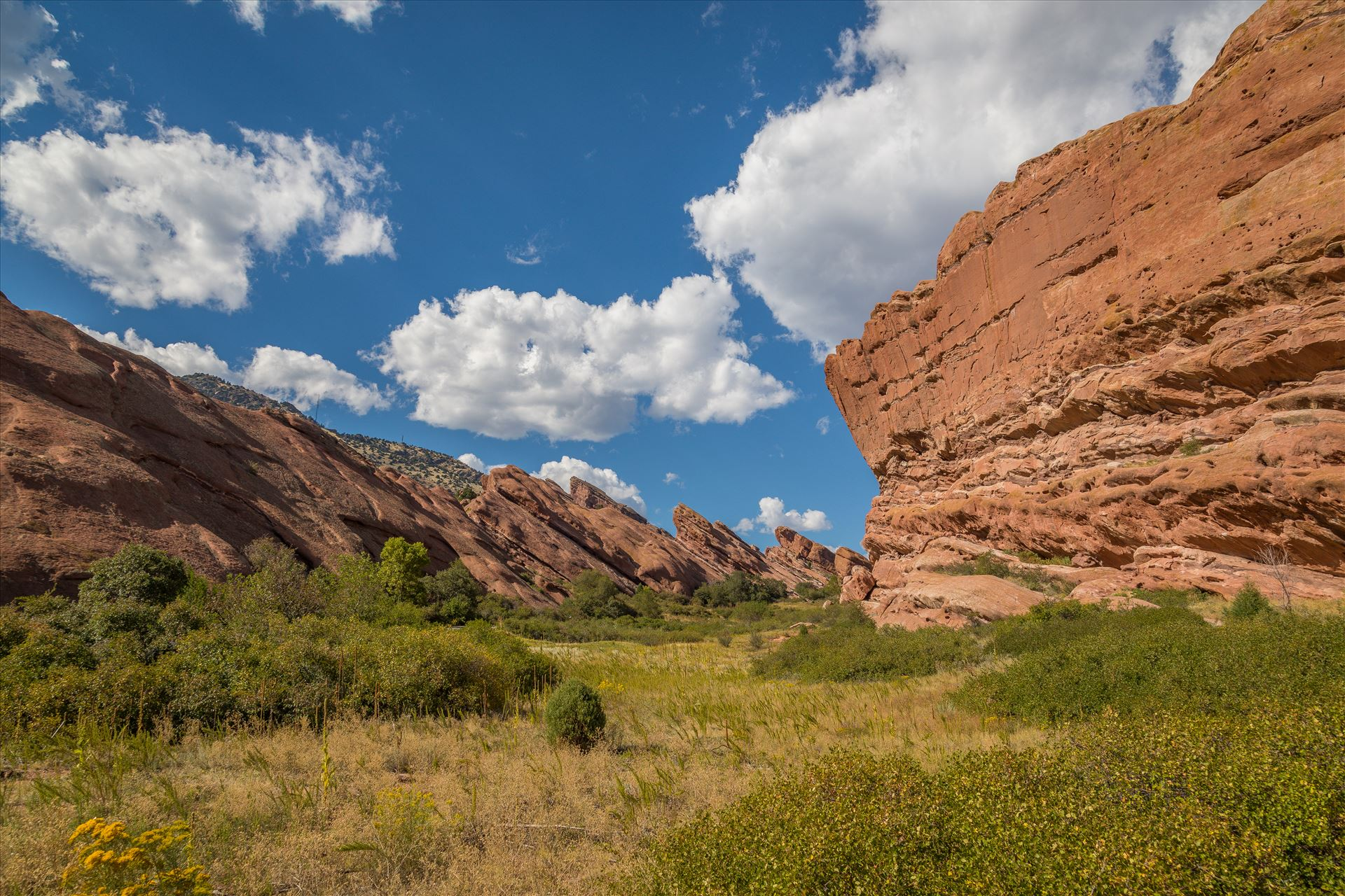 Red Rocks - Shipwreck Trail - From Shipwreck Trail at Red Rocks Park and Amphitheater, Morrison, Colorado. by D Scott Smith