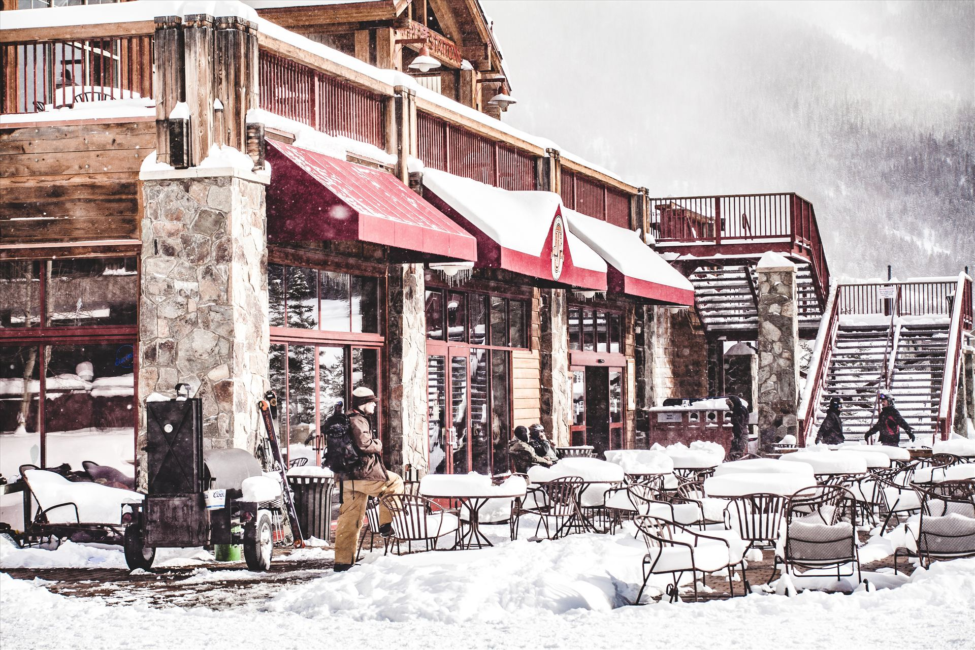 Copper Mountain - Taking a break from shredding at Copper Mountain, Colorado. by D Scott Smith