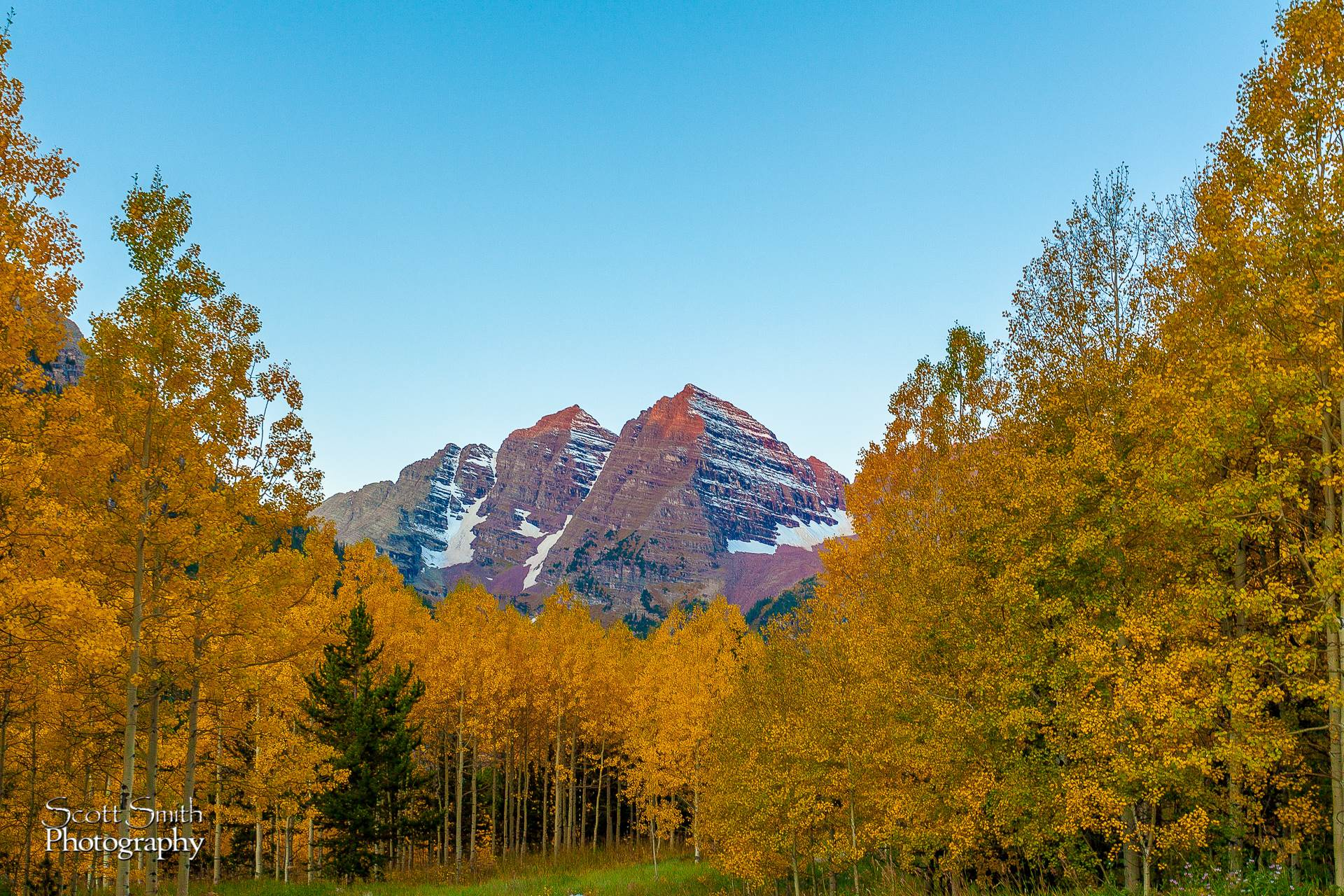 A Different View of the Bells - The view on the walk to the lake... which can be just as spectacular. by D Scott Smith