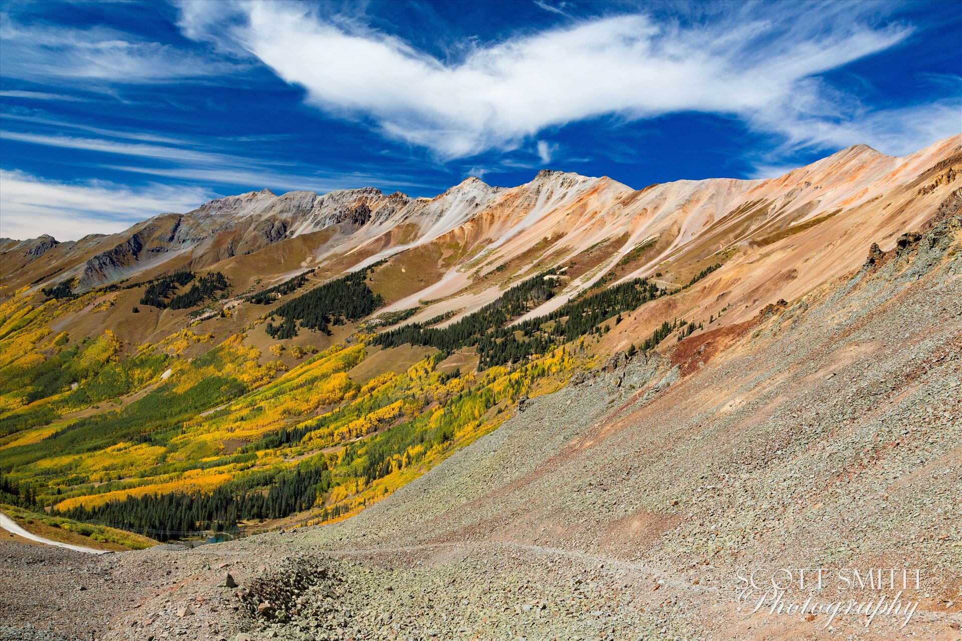 Ophir Pass 1 - Just west of the Ophir Pass summit, between Ouray and Silverton Colorado in the fall. by D Scott Smith