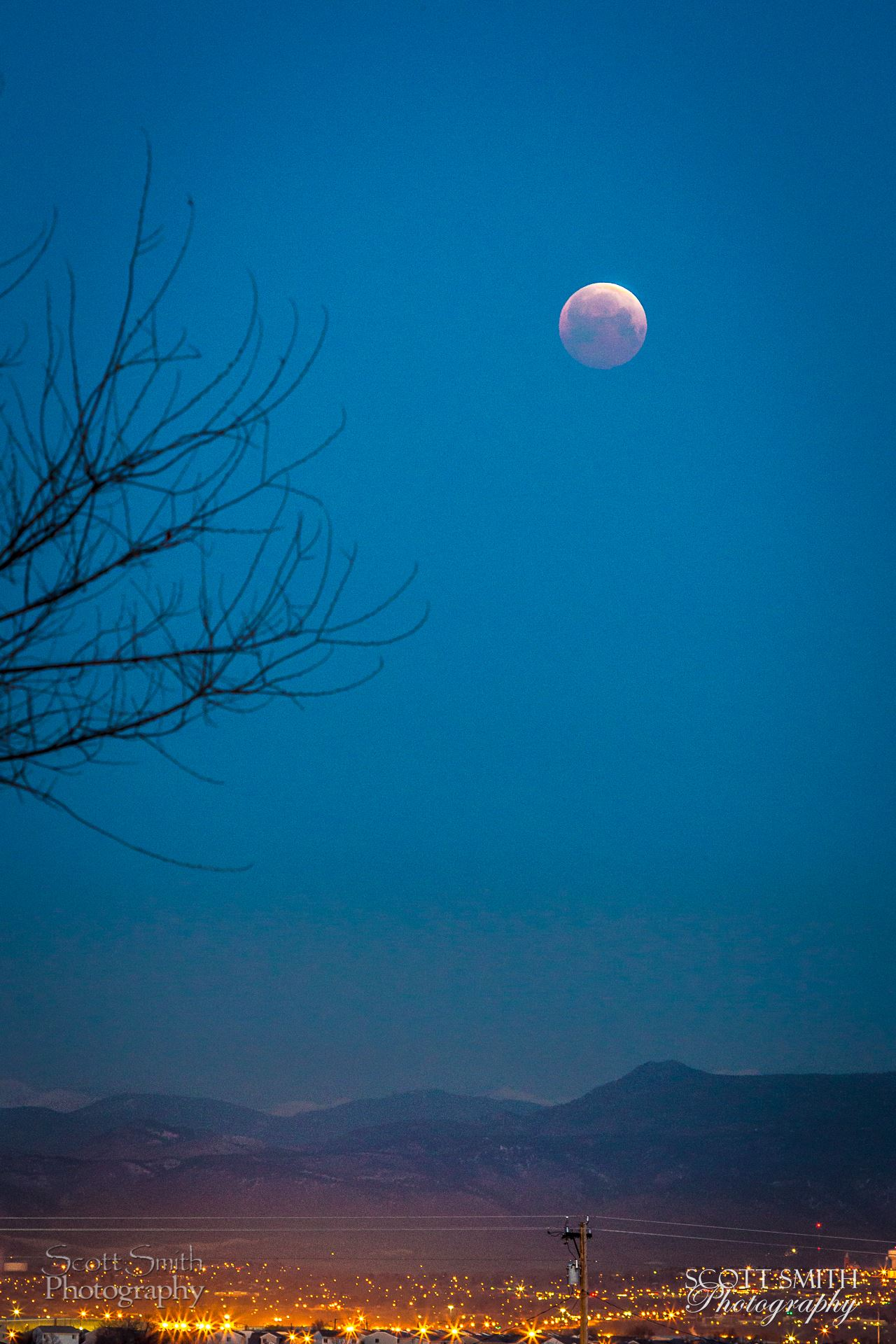 Lunar Eclipse, April 4 2015 8 - Lunar Eclipse ad blood moon, April 4 2015 from Denver, Colorado. by D Scott Smith