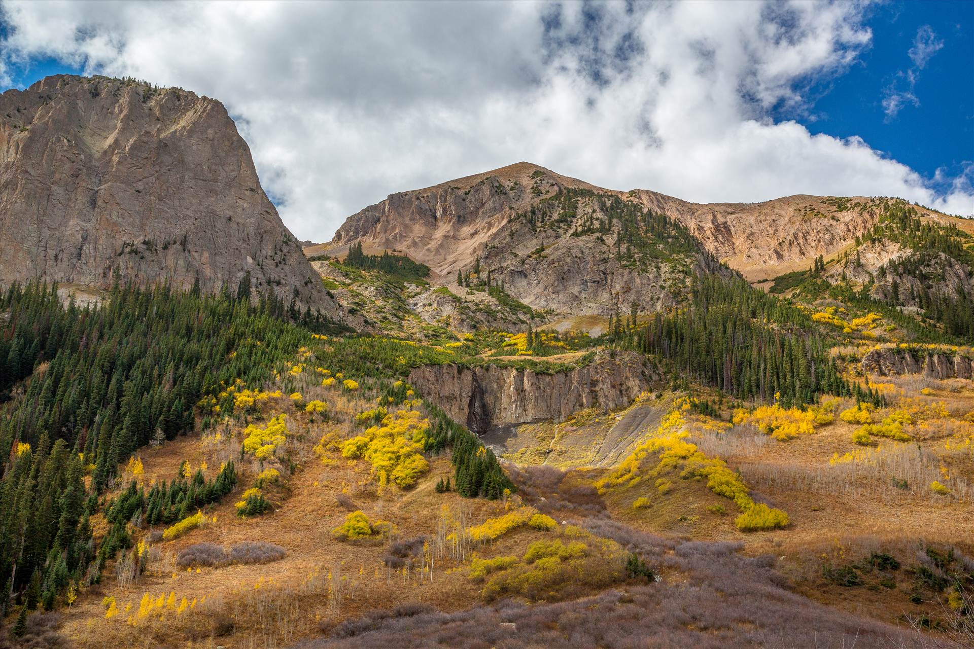 Gothic Road in Fall - The view from Gothic Road, north of Crested Butte, Colorado by D Scott Smith