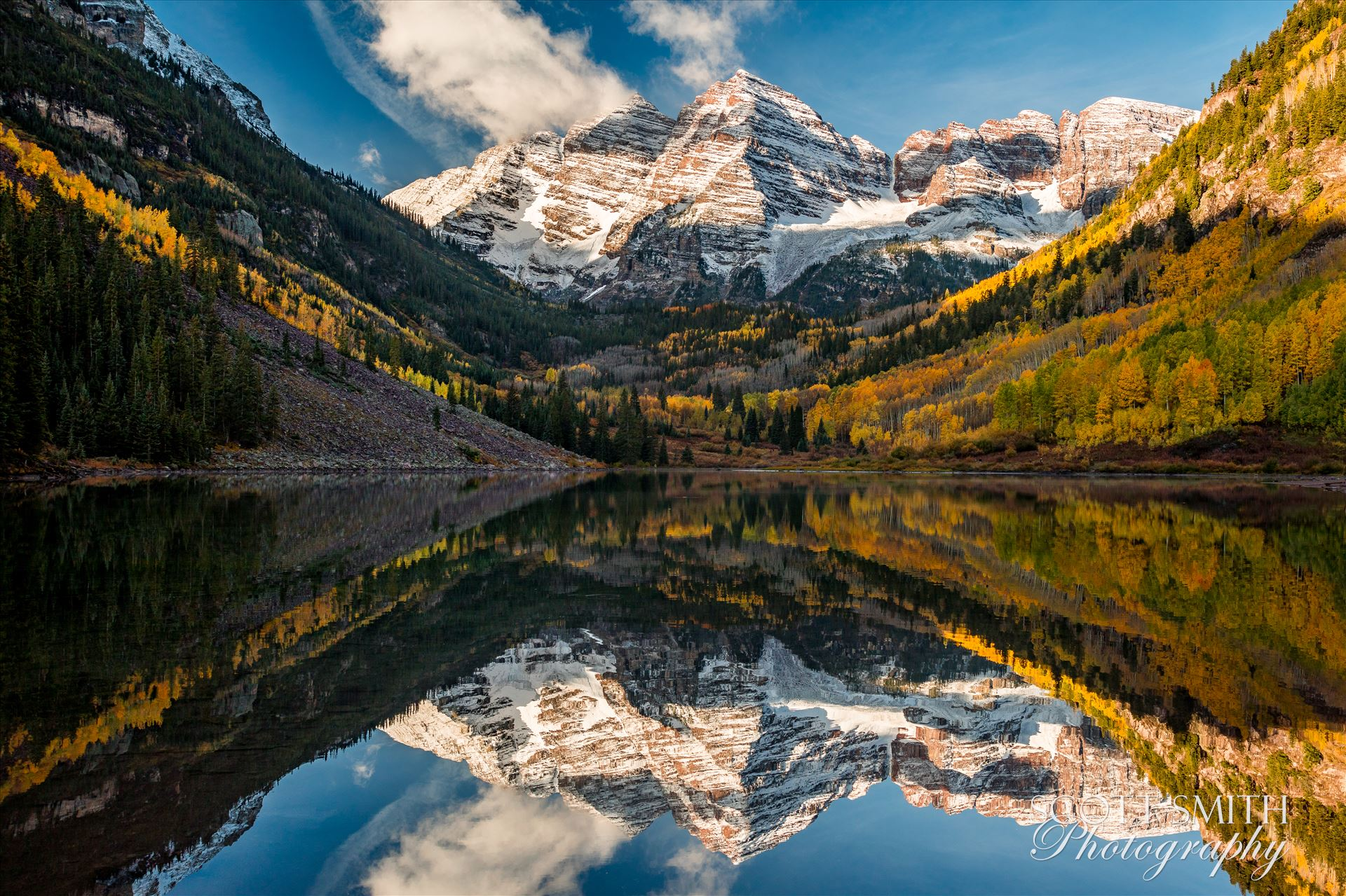 Maroon Bells 1 - The Maroon Bells, Saturday 9/29/17. by D Scott Smith