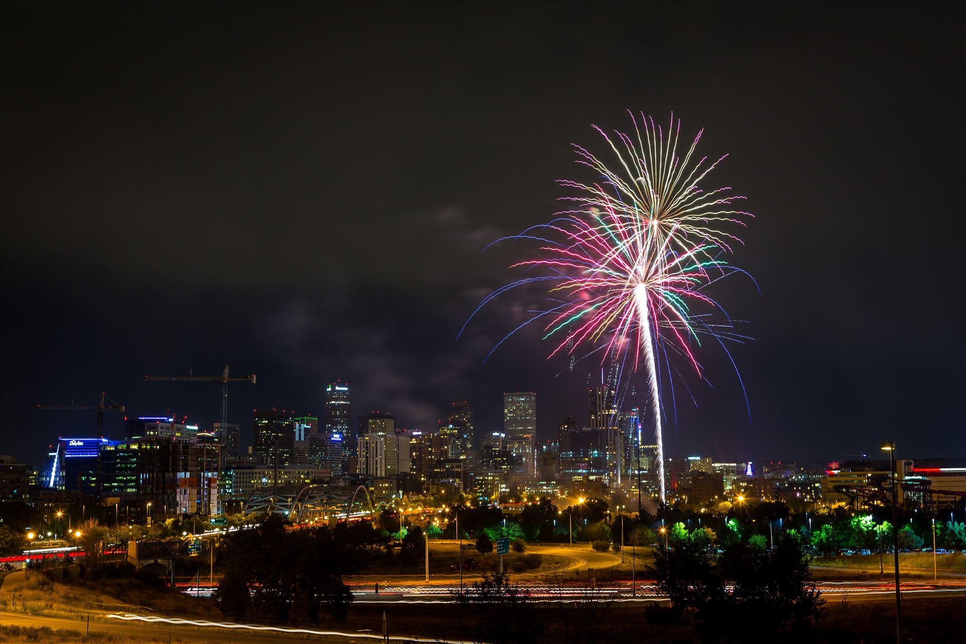 Elitch's Fireworks 2016 - 6 - Fireworks from Elitch Gardens, taken near Speer and Zuni in Denver, Colorado. by D Scott Smith