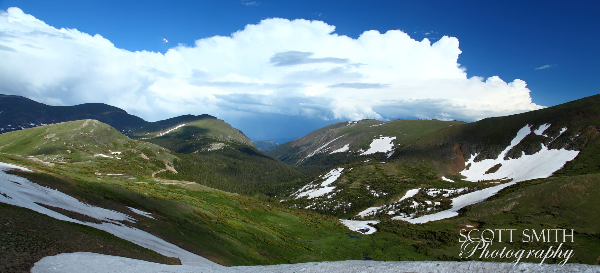 Trail Ridge View - From the top of Trail Ridge Road, in Rocky Mountain National Park. by D Scott Smith