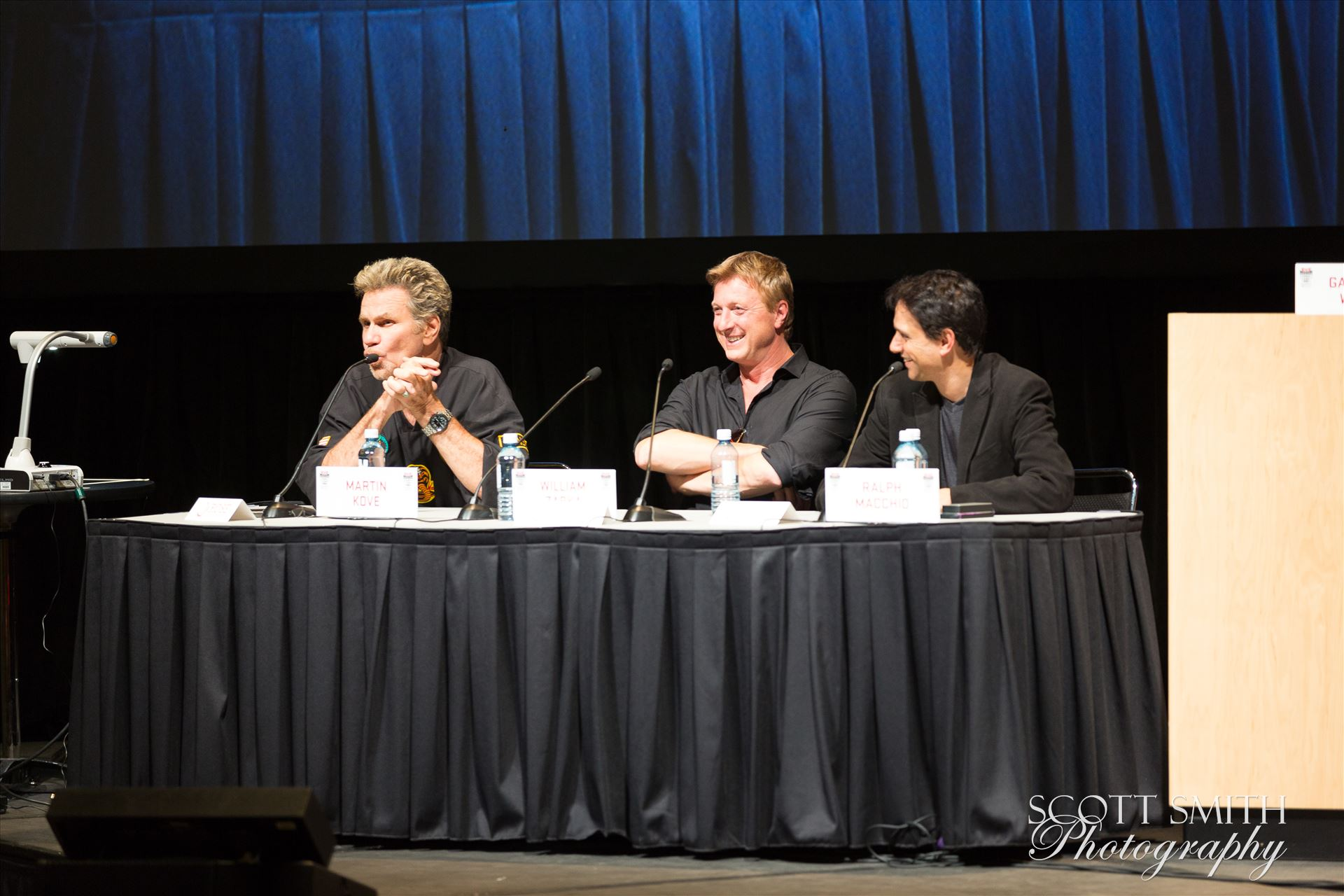 Denver Comic Con 2016 40 - Denver Comic Con 2016 at the Colorado Convention Center. Garrett Wang, Ralph Macchio, Martin Kove and William Zabka. by D Scott Smith