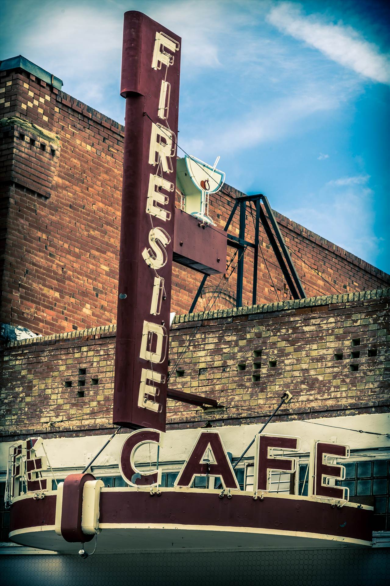 Fireside Cafe - An old diner in Fireside, Colorado. by D Scott Smith