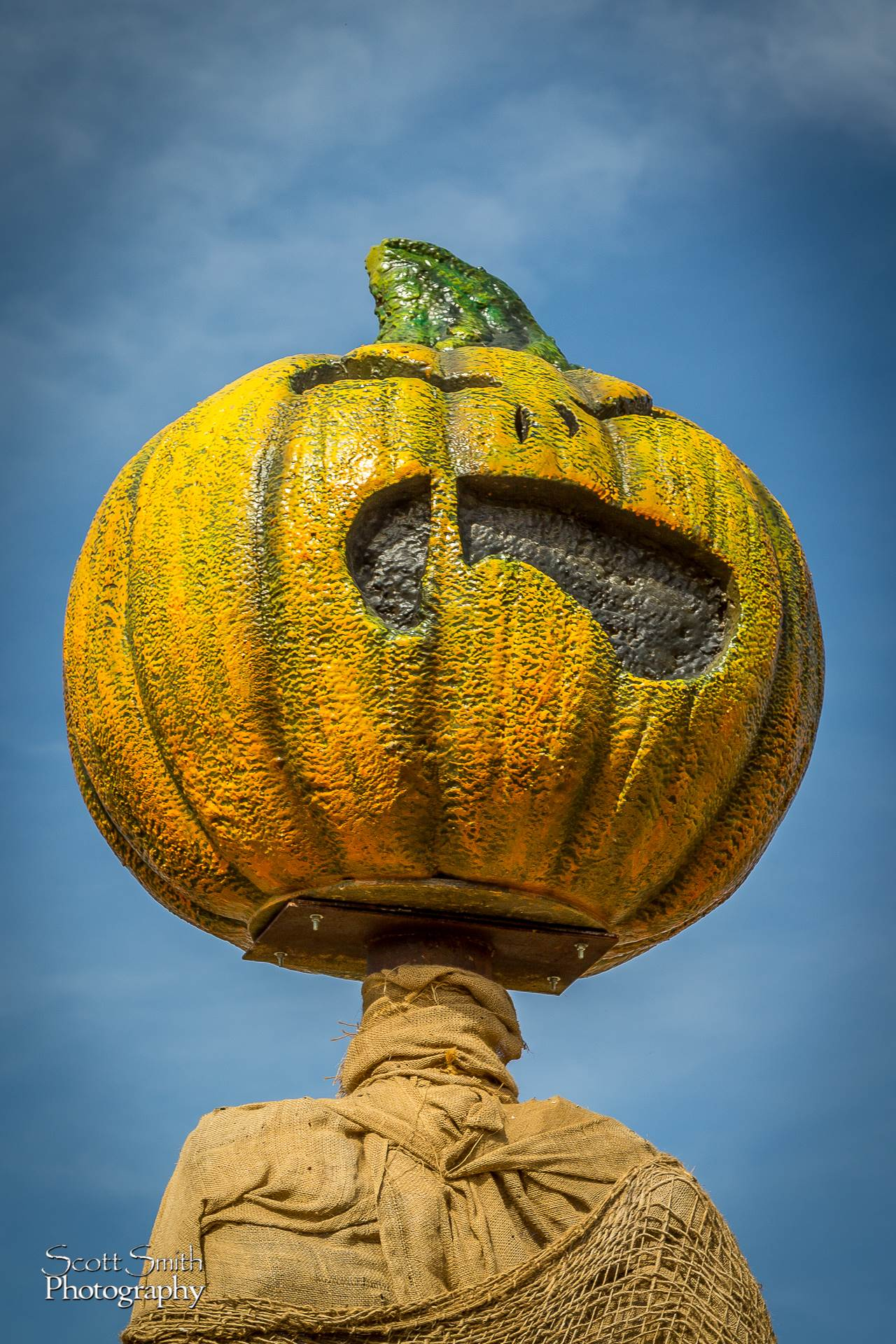 Scary Pumpkin Figure - Anderson Farms, Erie Colorado. by D Scott Smith