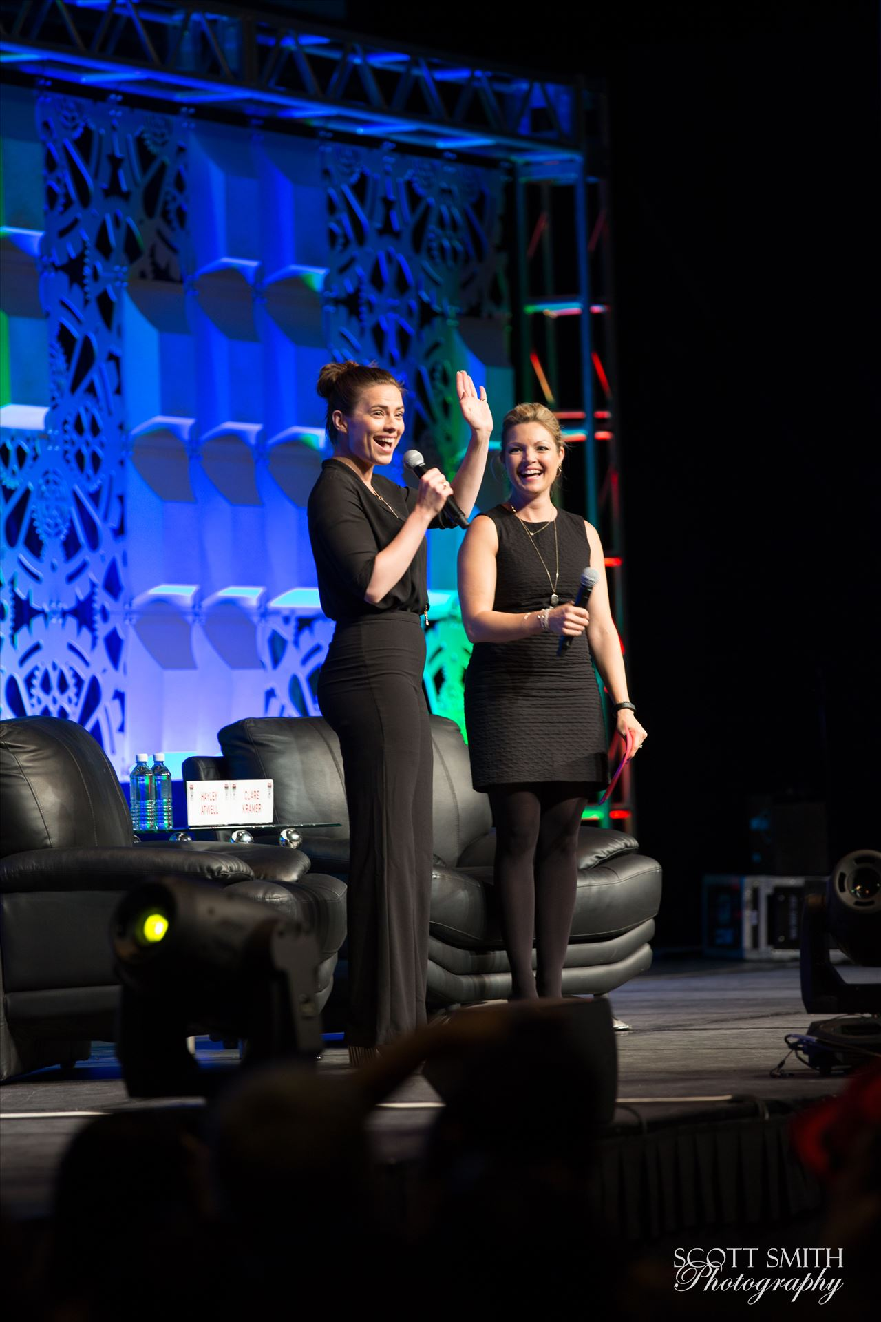 Denver Comic Con 2016 18 - Denver Comic Con 2016 at the Colorado Convention Center. Clare Kramer and Haley Atwell. by D Scott Smith