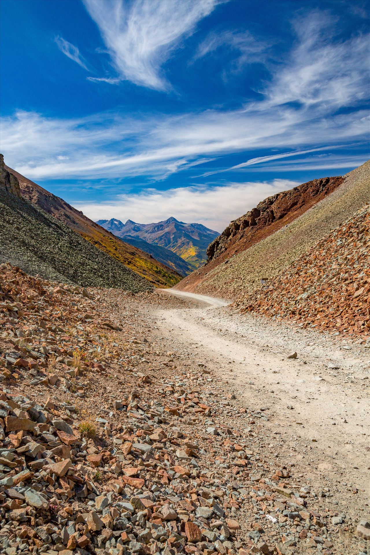Ophir Pass Summit - The summit of Ophir Pass, between Ouray and Silverton Colorado in the fall. by D Scott Smith