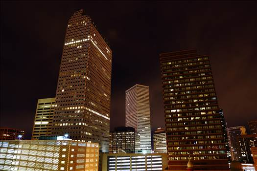 Downtown Denver at Night by D Scott Smith
