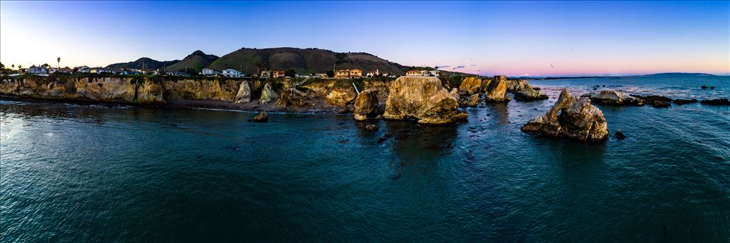 Aerial of Shell Beach No 3, California by D Scott Smith