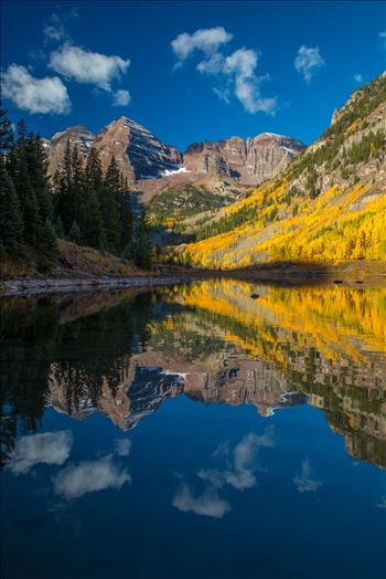 Maroon Bells and Maroon Lake No 1 by D Scott Smith