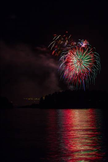 Dillon Reservoir Fireworks 2015 34 by D Scott Smith