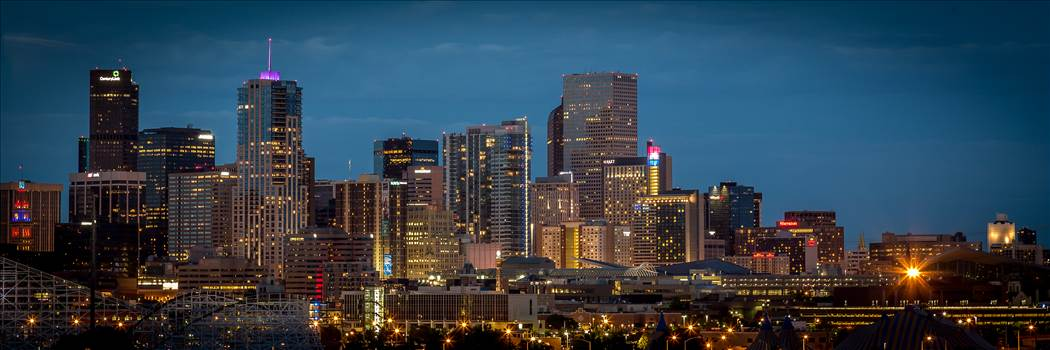 Denver at Night - The Denver skyline as seen from Mile High Stadium.