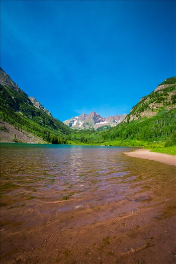Maroon Bells in Summer No 12 by D Scott Smith