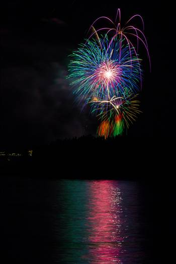Dillon Reservoir Fireworks 2015 28 by D Scott Smith
