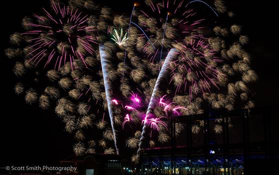 Fireworks over Coors Field 4 by D Scott Smith