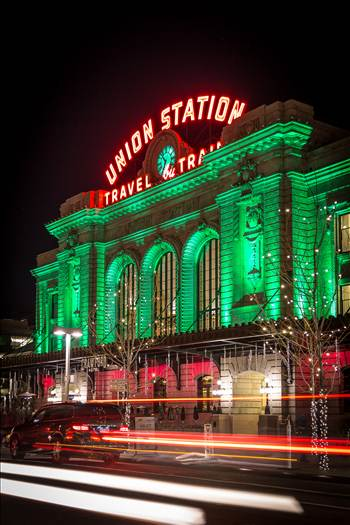 Denver Union Station at Christmas 2 by D Scott Smith