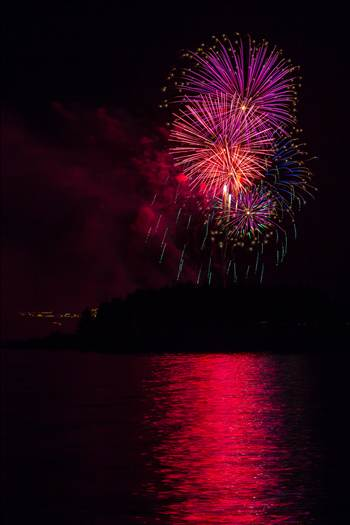 Dillon Reservoir Fireworks 2015 32 by D Scott Smith