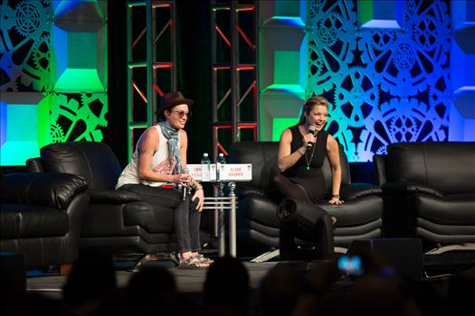 Denver Comic Con 2016 03 - Denver Comic Con 2016 at the Colorado Convention Center. Clare Kramer and Lena Headey.