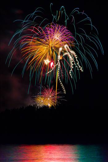 Dillon Reservoir Fireworks 2015 1 by D Scott Smith