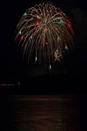 Dillon Reservoir Fireworks 2015 61 by D Scott Smith